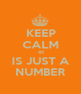 KEEP CALM 40 IS JUST A NUMBER - Personalised Poster A1 size