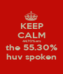 KEEP CALM 44.70%ers the 55.30% huv spoken - Personalised Poster A1 size