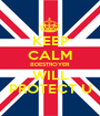 KEEP CALM 8DESTROYER WILL PROTECT U - Personalised Poster A1 size