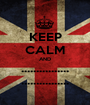 KEEP CALM AND ................ ................ - Personalised Poster A1 size
