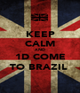 KEEP CALM AND 1D COME TO BRAZIL  - Personalised Poster A1 size