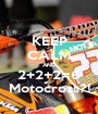 KEEP CALM AND 2+2+2=6 Motocross?! - Personalised Poster A1 size
