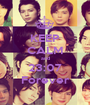 KEEP CALM and 23:07 Forever - Personalised Poster A1 size