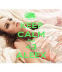 KEEP CALM AND <3 ALEEX - Personalised Poster A1 size