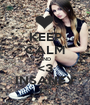 KEEP CALM AND <3 INSANEY - Personalised Poster A1 size