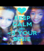 KEEP CALM AND <3 YOUR BESIE - Personalised Poster A1 size