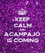 KEEP CALM AND ACAMPAJÓ  IS COMING - Personalised Poster A1 size