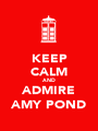 KEEP CALM AND ADMIRE AMY POND - Personalised Poster A1 size