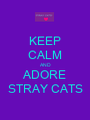 KEEP CALM AND ADORE STRAY CATS - Personalised Poster A1 size