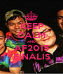 KEEP CALM AND AF2015 FINALIS - Personalised Poster A1 size