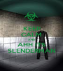 KEEP CALM AND AHH ITS SLENDERMAN - Personalised Poster A1 size
