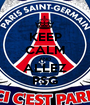 KEEP CALM AND ALLEZ PSG - Personalised Poster A1 size