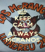 KEEP CALM AND ALWAYS MCRANOS - Personalised Poster A1 size