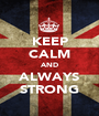KEEP CALM AND ALWAYS STRONG - Personalised Poster A1 size