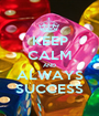 KEEP CALM AND ALWAYS SUCCESS - Personalised Poster A1 size