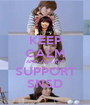KEEP CALM AND ALWAYS SUPPORT SNSD - Personalised Poster A1 size