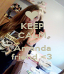 KEEP CALM AND Amanda friend <3 - Personalised Poster A1 size