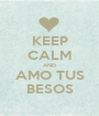 KEEP CALM AND AMO TUS BESOS - Personalised Poster A1 size