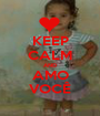 KEEP CALM AND AMO VOCÊ - Personalised Poster A1 size