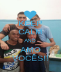 KEEP CALM AND AMO VOCÊS!! - Personalised Poster A1 size