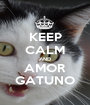 KEEP CALM AND AMOR GATUNO - Personalised Poster A1 size