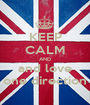 KEEP CALM AND and love one direction - Personalised Poster A1 size