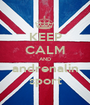 KEEP CALM AND andrenalin sport - Personalised Poster A1 size