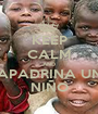 KEEP CALM AND APADRINA UN NIÑO - Personalised Poster A1 size