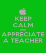 KEEP CALM AND APPRECIATE A TEACHER - Personalised Poster A1 size