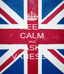 KEEP CALM AND ASK VANESSA - Personalised Poster A1 size