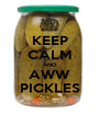 KEEP CALM AND AWW PICKLES - Personalised Poster A1 size