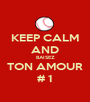 KEEP CALM AND BAISEZ TON AMOUR # 1 - Personalised Poster A1 size