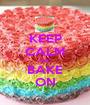 KEEP CALM AND BAKE ON - Personalised Poster A1 size