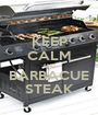 KEEP CALM AND BARBACUE STEAK - Personalised Poster A1 size