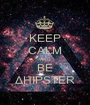 KEEP CALM AND BE ΔHIPSTER - Personalised Poster A1 size