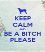 KEEP CALM AND BE A BITCH PLEASE - Personalised Poster A1 size