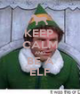 KEEP  CALM AND BE A ELF - Personalised Poster A1 size