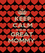 KEEP CALM AND BE A GREAT  MOMMY  - Personalised Poster A1 size