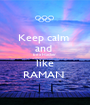 Keep calm  and  be a Hacker  like RAMAN  - Personalised Poster A1 size
