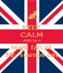 KEEP CALM AND be a huge fan of Mr. stamps cat - Personalised Poster A1 size