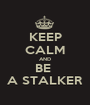 KEEP CALM AND BE  A STALKER - Personalised Poster A1 size