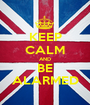 KEEP CALM AND BE ALARMED - Personalised Poster A1 size