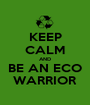 KEEP CALM AND BE AN ECO WARRIOR - Personalised Poster A1 size