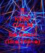 KEEP CALM AND be beast (like stone) - Personalised Poster A1 size