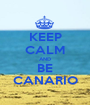 KEEP CALM AND BE CANARIO - Personalised Poster A1 size