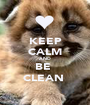 KEEP CALM AND BE  CLEAN  - Personalised Poster A1 size