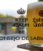 KEEP CALM AND BE CONSEJO DE SABIAS - Personalised Poster A1 size