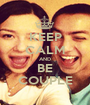KEEP CALM AND BE COUPLE - Personalised Poster A1 size