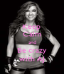 Keep  Calm and Be crazy with AJ - Personalised Poster A1 size