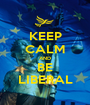 KEEP CALM AND BE LIBERAL - Personalised Poster A1 size